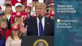 PoliMedios: Trump, bajo la guillotina de destitución