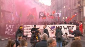 Manifestantes en Suiza rechazan el Foro Económico Mundial