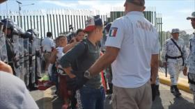 Nueva caravana de migrantes llega a la frontera sur de México