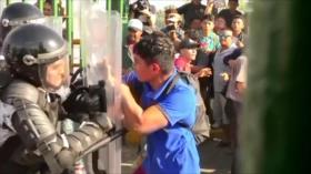 La primera caravana migrante de 2020 sufre un frenazo en México
