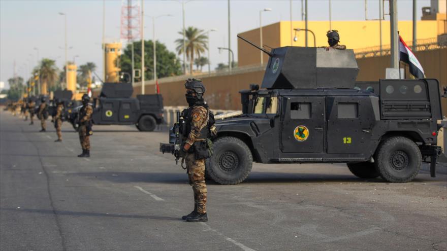 Las fuerzas iraquíes desplegadas en Bagdad, la capital, 2 de enero de 2020. (Foto: AFP)