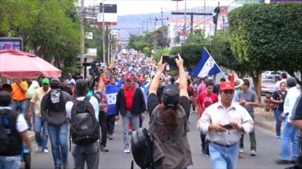 En Honduras se movilizan contra corrupción de Hernández
