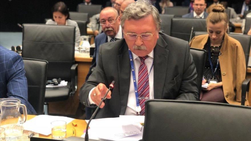 El embajador ruso ante las organizaciones internacionales radicadas en Viena (capital de Austria), Mijaíl Uliánov.