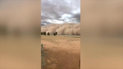 Tormentas de polvo y granizo azotan Australia tras los incendios