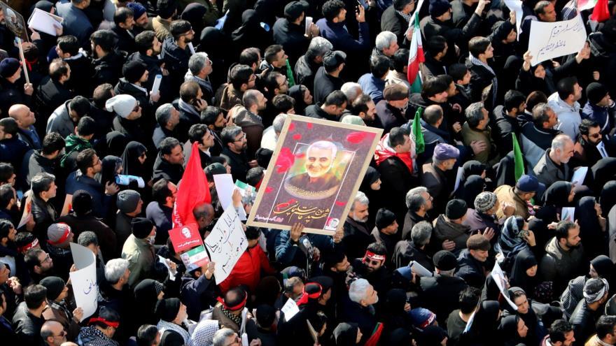 'Marchas por Soleimani frustraron plan de EEUU contra unidad Irán-Irak'