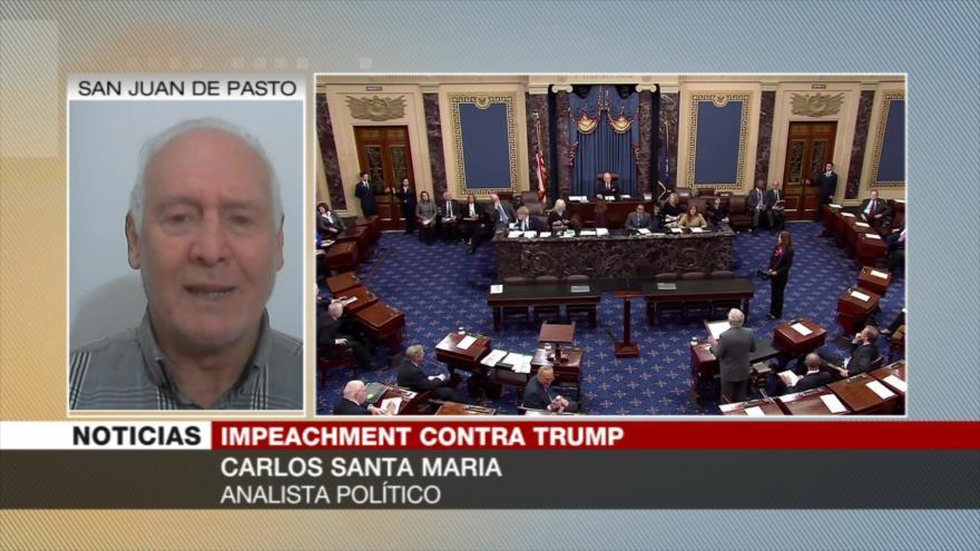 Santa María: Impeachment contra Trump afectará a su reelección