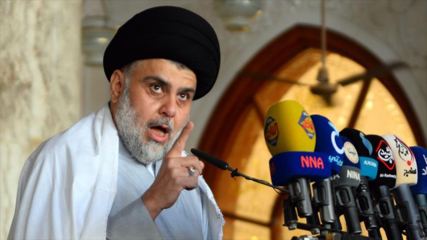 El clérigo chií iraquí Muqtada al-Sadr, líder del Movimiento Sadr, mayo de 2019. (Foto: AFP)
