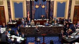 Senado aprueba las reglas del impeachment contra Trump