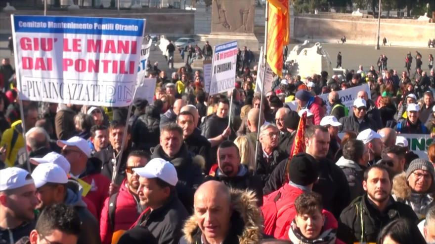 El comercio italiano en pie de guerra contra el Gobierno