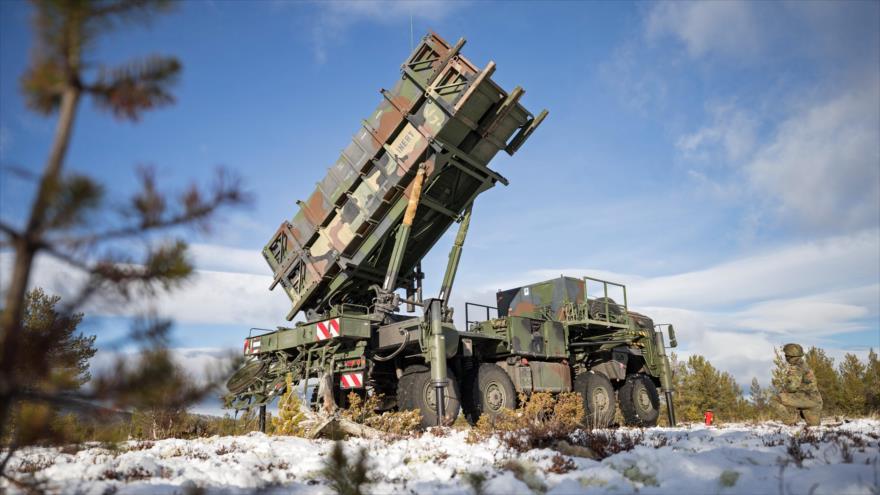 Un sistema de defensa antimisiles estadounidense Patriot, durante una maniobra militar en Noruega, 24 de octubre de 2018.