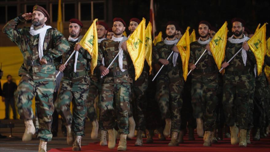 Combatientes del Movimiento de la Resistencia Islámica de El Líbano (Hezbolá).