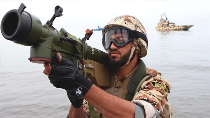 Un militar de la armada iraní.