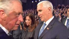 Vídeo: Príncipe de Gales ignora a Pence en acto público