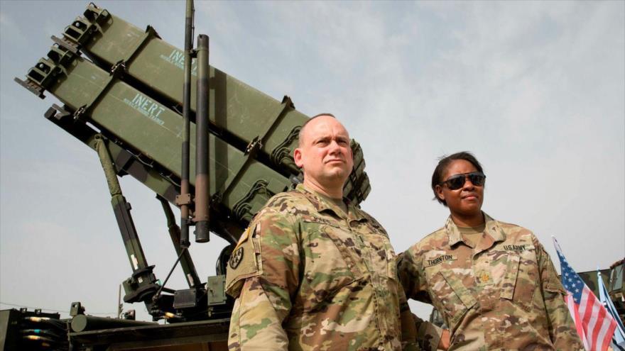 El sistema antimisiles Patriot de EE.UU. en una maniobra militar, 8 de marzo de 2018. (Foto: AFP)