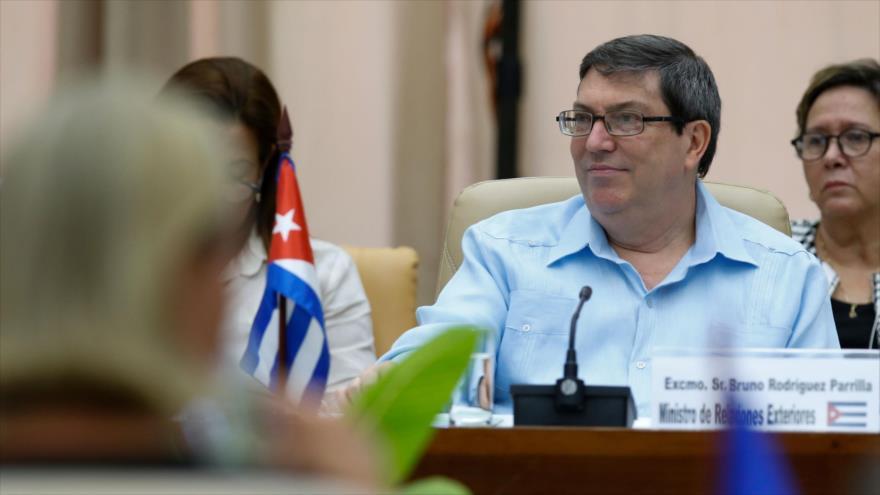 El canciller cubano, Bruno Rodríguez Parrilla, durante una reunión en La Habana (capital), 9 de septiembre de 2019. (Foto: AFP)