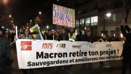 Manifestación contra reforma de pensiones en Francia