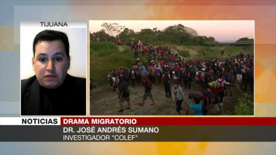 Sumano: En México falta coordinación ante caravana de migrantes