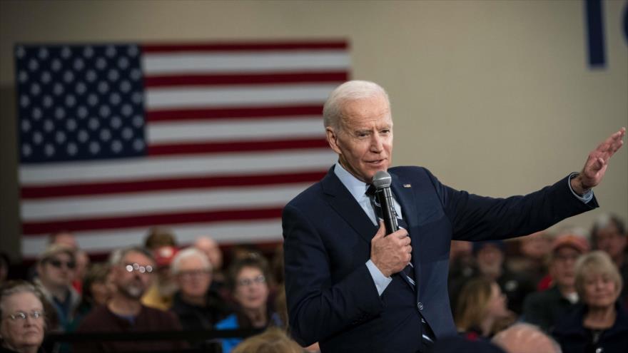 Precandidato demócrata Joe Biden habla en un evento en el estado de Iwoa, EE.UU., 21 de enero de 2020. (Foto: AFP)