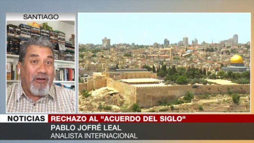 """Jofré Leal: EEUU e Israel quieren lanzar la """"imposición del siglo"""""""