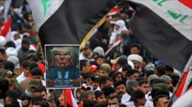 Medios se hacen eco de las marchas anti-EEUU en Irak