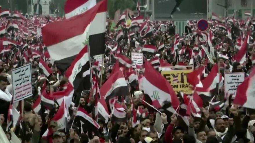 Marcha en Irak. Ataque de Irán a EEUU. Huelga en Francia