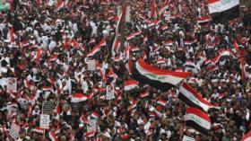 En imágenes, marcha de los iraquíes contra la ocupación de EEUU