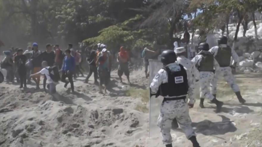 Detenciones masivas de los migrantes en frontera sur de México