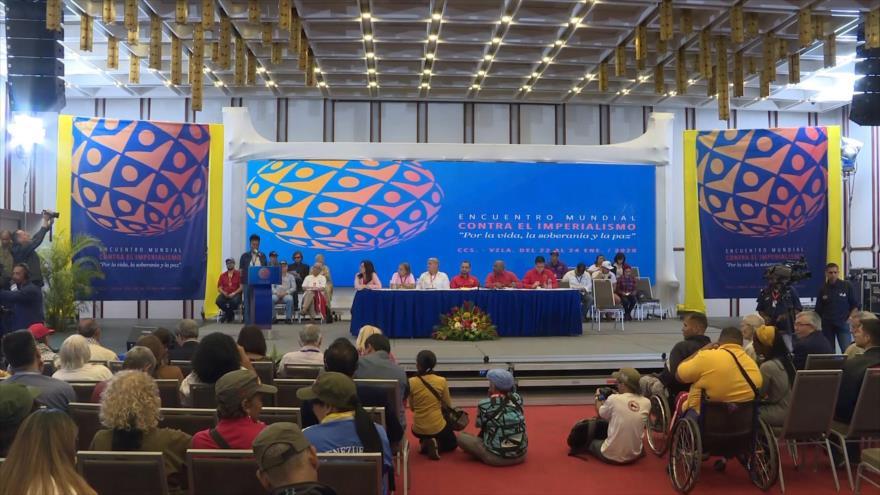 """Culmina """"Encuentro Mundial contra el Imperialismo"""" en Venezuela"""
