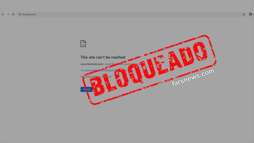 Sitio Web de Farsnews es bloqueado por sanciones de EEUU
