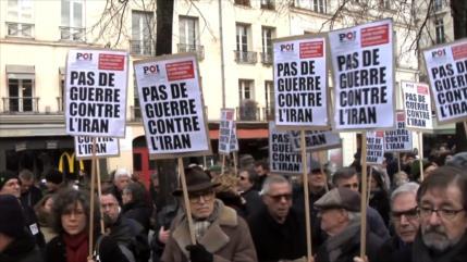 En Francia protestan contra provocaciones de EEUU a Irán