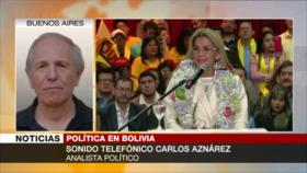 Aznárez: Con Áñez, no habrá comicios transparentes en Bolivia