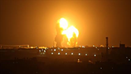 Cazas israelíes lanzan nuevos ataques contra la Franja de Gaza