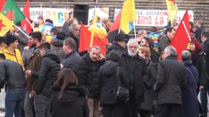 Marchan en Italia para decir no a las guerras en todo el mundo