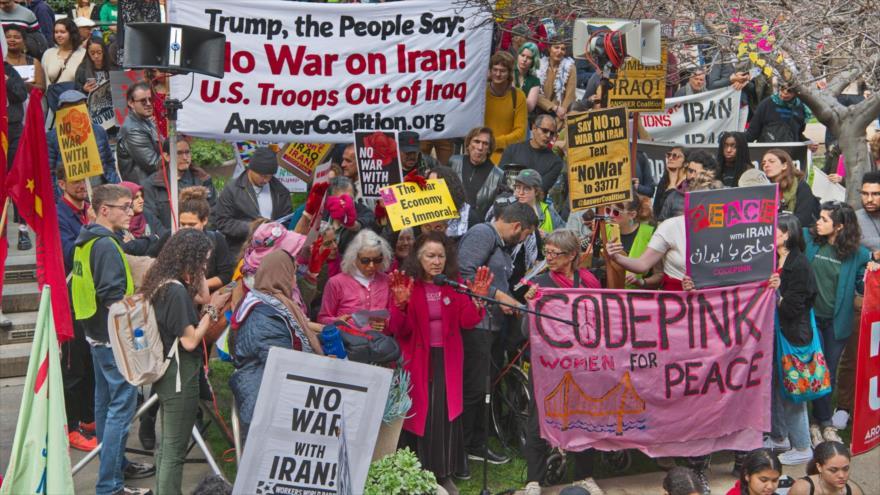Marcha para repudiar las políticas hostiles de EE.UU. contra Irán. Los Ángeles, 25 de enero de 2020. (Foto: indybay.org)
