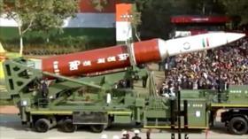 La India exhibe su misil antisatélite en un desfile militar