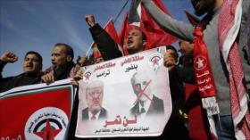Palestinos marchan en Gaza en rechazo al acuerdo del siglo de EEUU