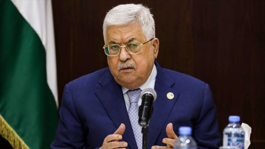 El presidente palestino, Mahmud Abás, ofrece un discurso en la Cisjordania ocupada, 3 de octubre de 2019. (Foto: AFP)