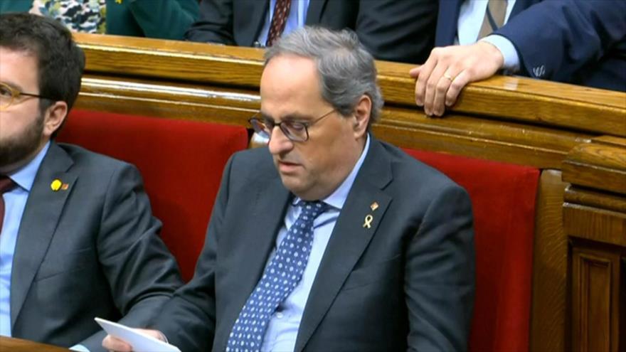 Parlamento de Cataluña retira el escaño de diputado a Quim Torra