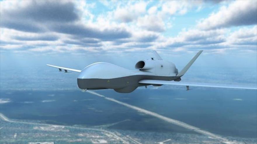 Un dron espía MQ-4C Triton de las Fuerzas Armadas de EE.UU.