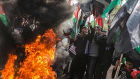 Miles de palestinos protestan contra 'acuerdo del siglo' de Trump