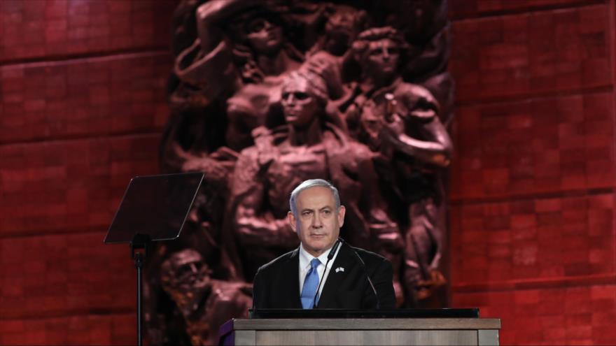 El premier israelí, Benjamín Netanyahu, ofrece un discurso en Al-Quds (Jerusalén), 23 de enero de 2020. (Foto: AFP)