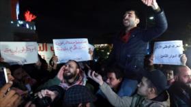 Jordanos se manifiestan contra el plan proisraelí de EEUU