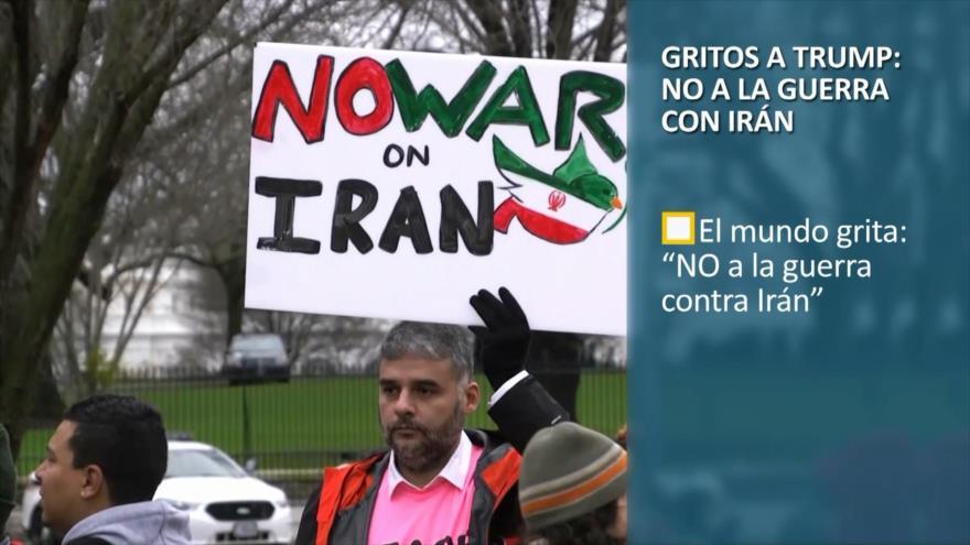 PoliMedios: Gritos a Trump; NO a la guerra con Irán
