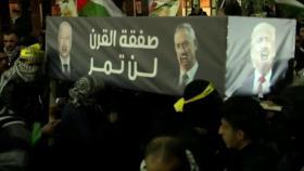 Palestinos rechazan el plan proisraelí de Donald Trump