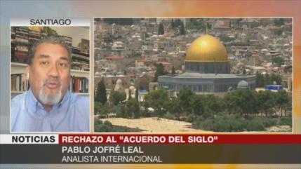 """Jofré Leal: Los palestinos enfrentan """"imposición del siglo"""""""