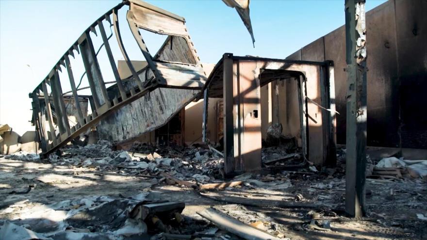 Los daños causados por el ataque con misiles iraníes en la base estadounidense de Ain al-Asad, en Irak, realizado el 8 de enero de 2020. (Foto: CNN)