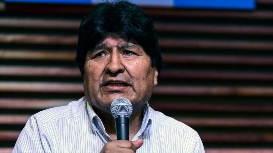 El depuesto presidente boliviano, Evo Morales, habla en una rueda de prensa, Buenos Aires, la capital de Argentina, 27 de enero de 2020. (Foto: AFP)
