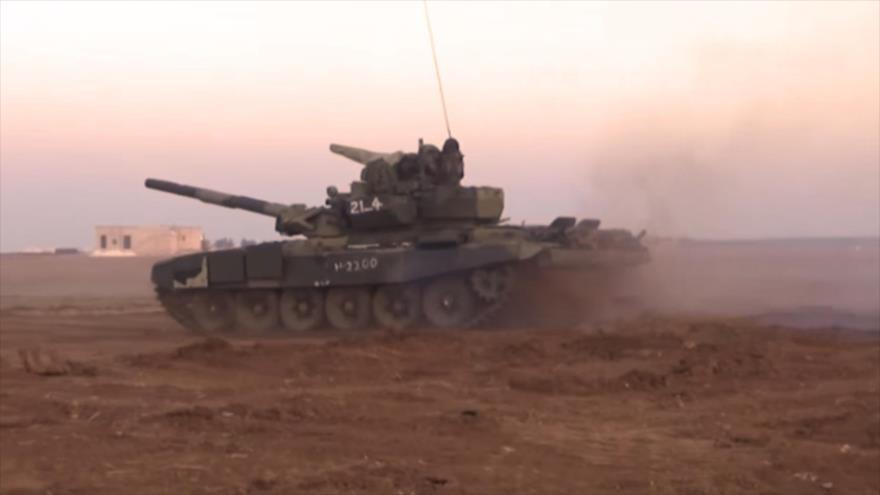 Vídeo: Ejército sirio avanza en Alepo con tanques rusos T-90 | HISPANTV