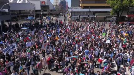 Movilización social chilena busca una nueva Constitución