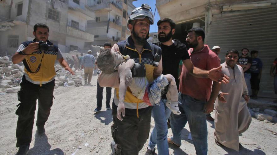Cascos blancos planean ataque en Idlib que implica a 200 personas | HISPANTV
